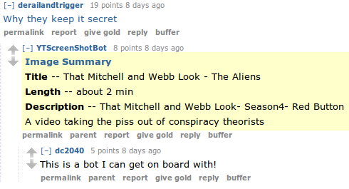 A Marvellous & Incomplete Compendium of reddit Automatons