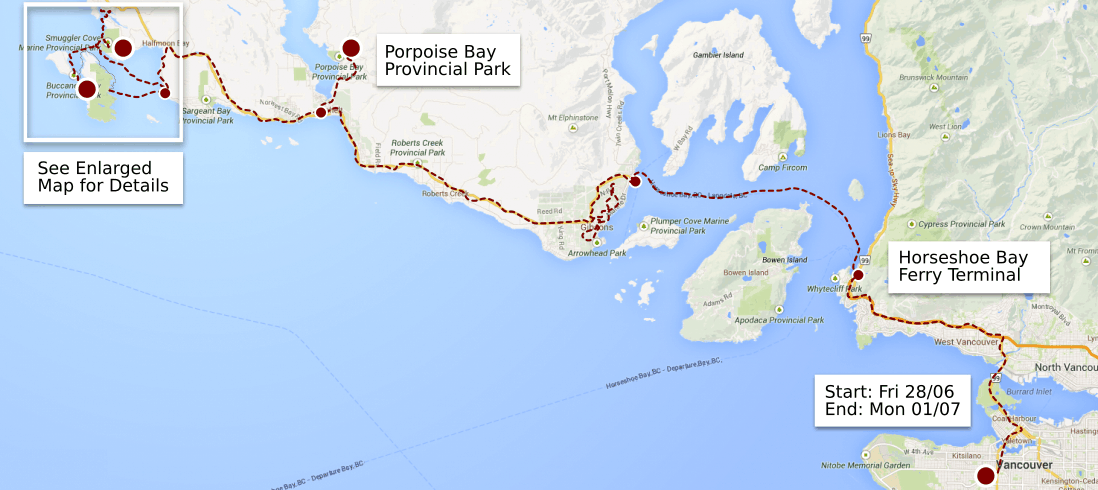 thormanby trip overview map