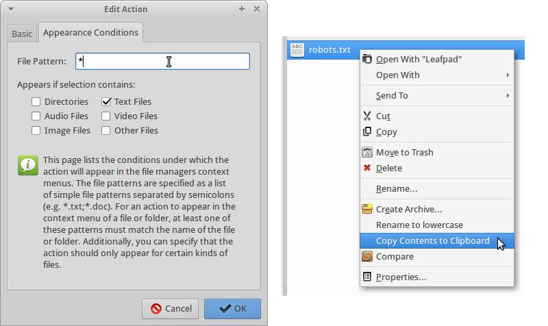 thunar custom actions edit 3